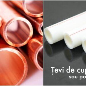 Tevi de cupru sau polipropilena - care e cea mai buna alegere?